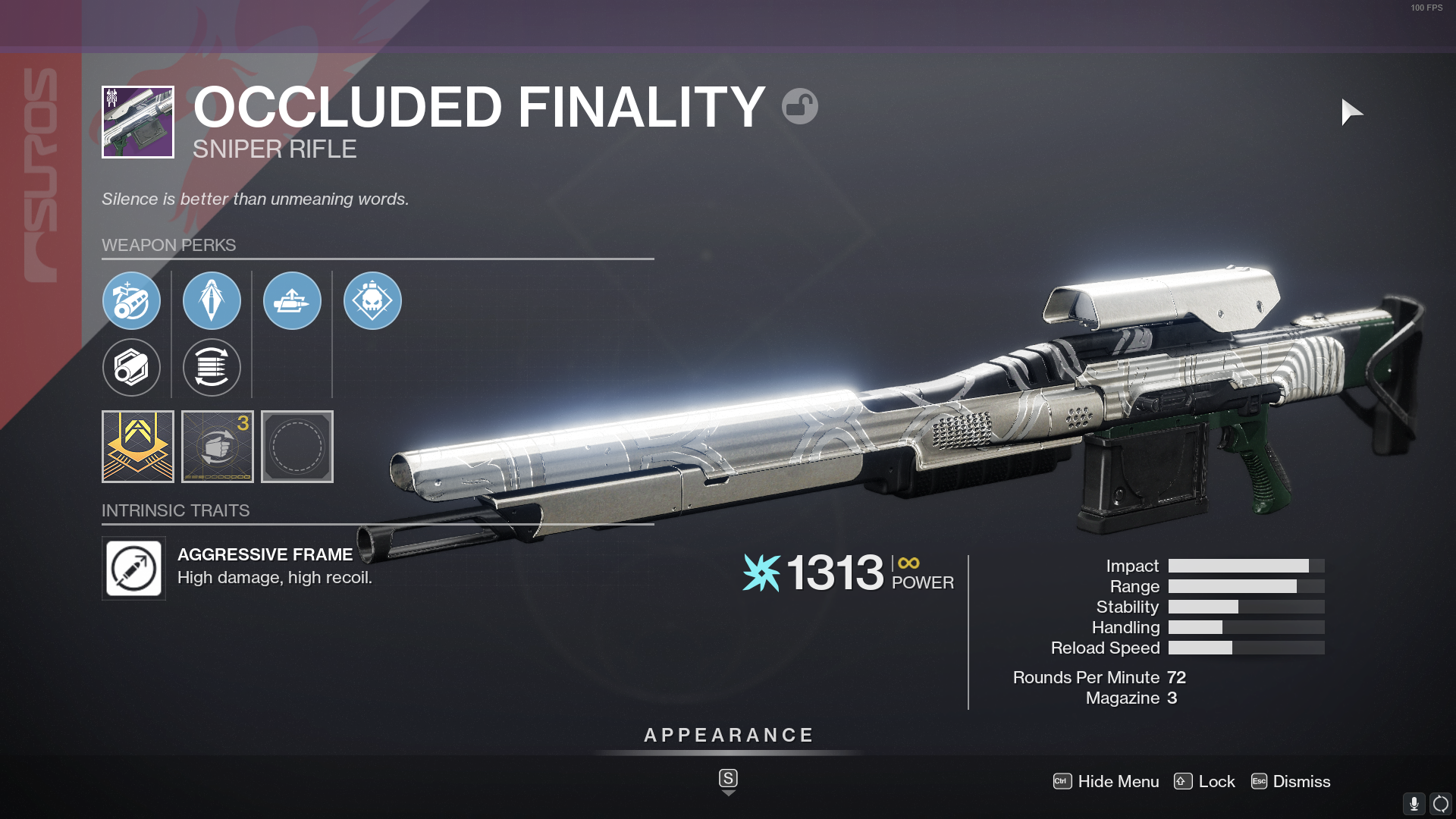 Destiny 2 Occluded Finality God Roll