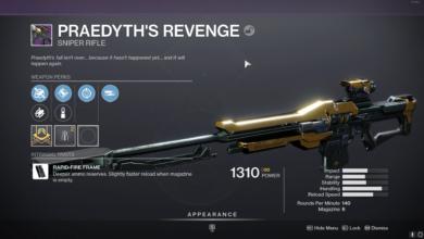 Photo of Destiny 2 Praedyth's Revenge Guide – How to Get It & God Roll