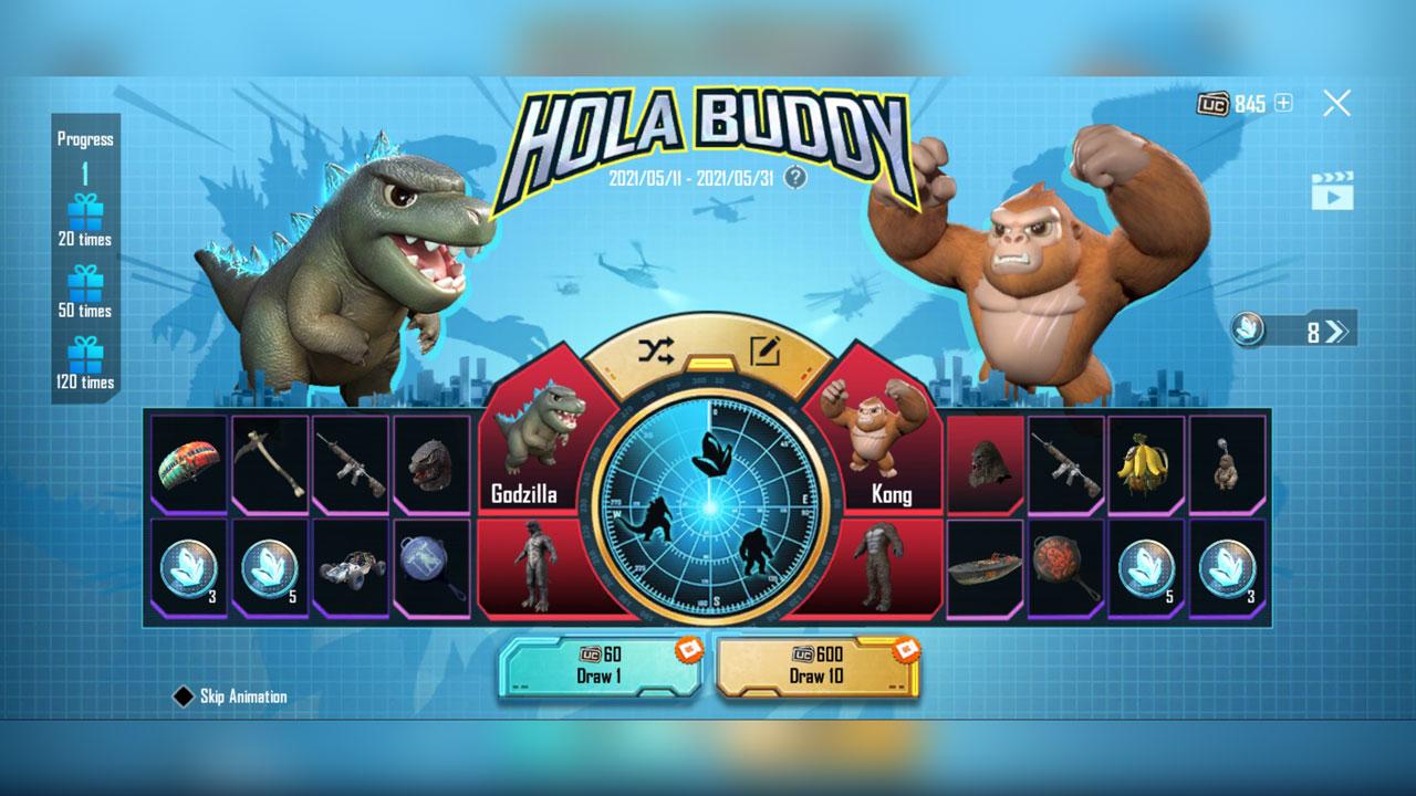 Hola Buddy PUBG Mobile prized