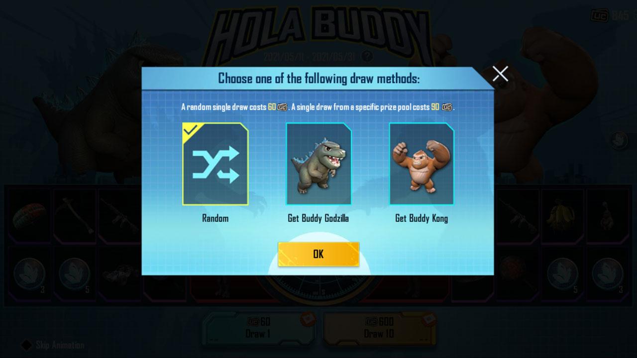 Hola Buddy event prize pool toggle