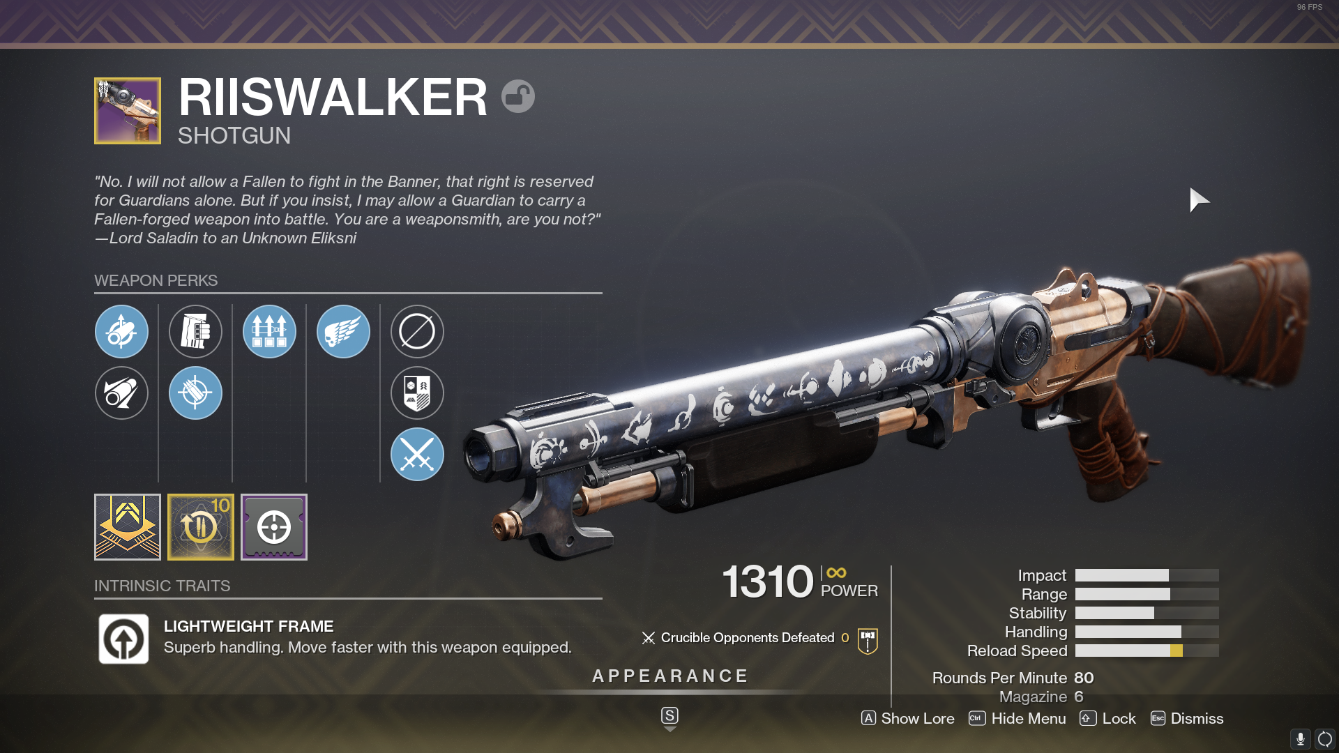 Destiny 2 Riiswalker God Roll