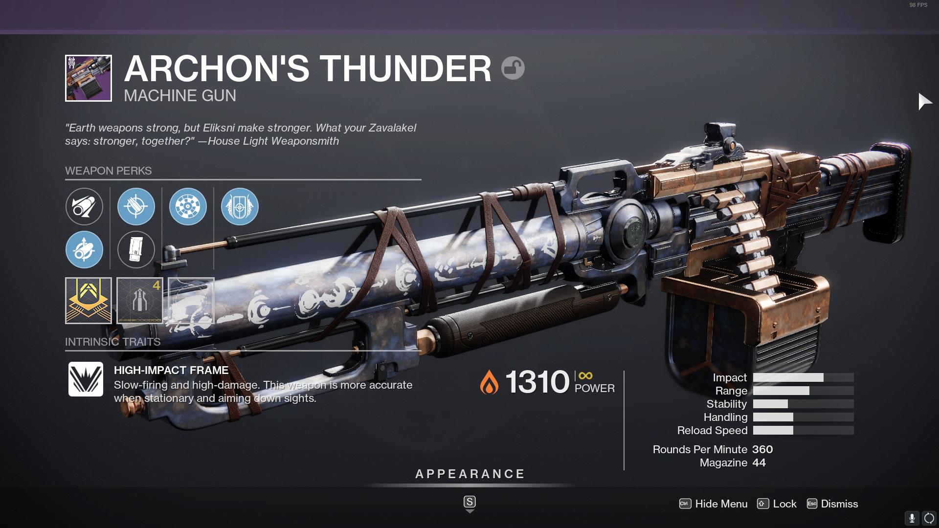 Destiny 2 Archon's Thunder God Roll