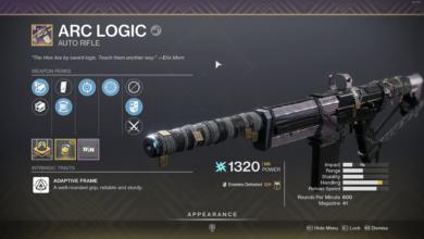 Photo of Destiny 2 Arc Logic Guide – Arc Logic God Roll & How to Get It