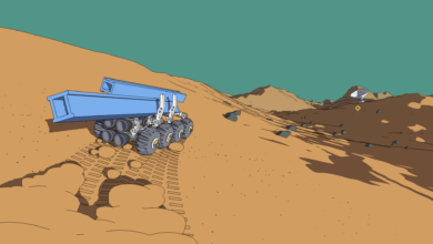 Photo of 'Mars First Logistics' is All About a Little Guy Hauling Around