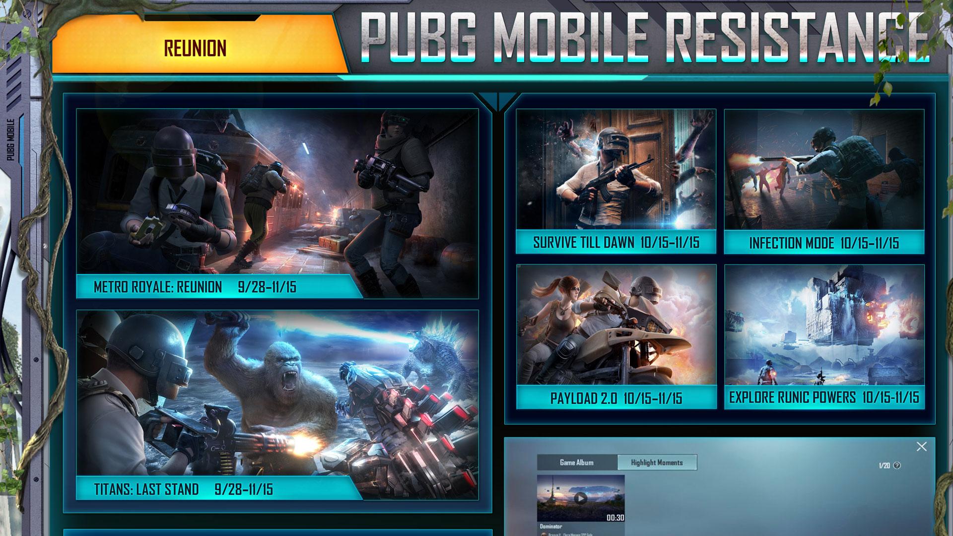 Tanggal kembali mode PUBG Mobile 1.6.