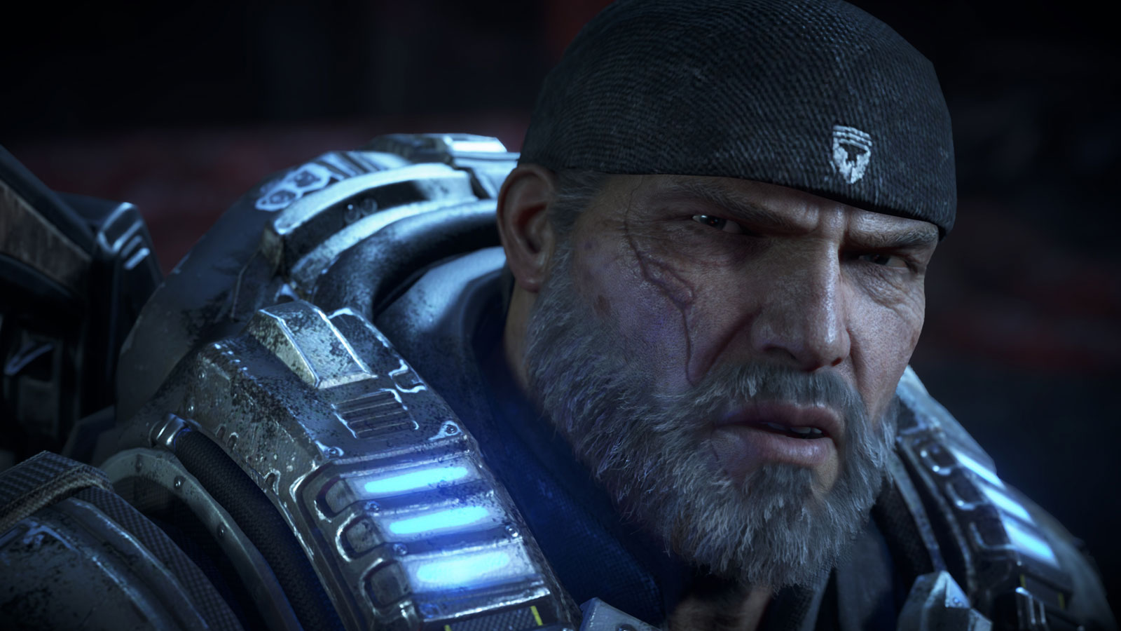 Gears of War 4 revisits Marcus Fenix as an old man.